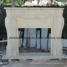 Beige Marvel Fireplace Mantel Surround (SY-MF002)