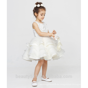 Blumenmädchen Kleid von 9 Jahre alten Kleid Schaufel Ausschnitt ärmellosen Sexies Mädchen in heißen Nachtkleid ED784