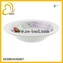 Tigela de arroz 100% branco melamina, tigela de melamina, tigelas de melamina