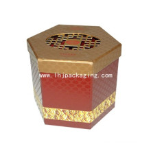 Hexagon Shape Paper Cosmetic Packaging Box