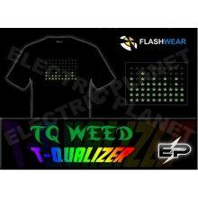 [Супер дело]оптом 2009 мода горячие продажа футболка А32,El футболки,LED футболки