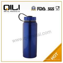Бутылка воды синий из нержавеющей стали