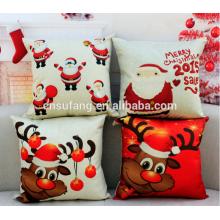 venda por atacado merry christmas linen cushion covers