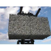 Galvanisé de haute qualité avec du moulinet en PVC revêtu de gabion