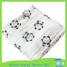Printed Animals Muslin Cotton Baby Swaddle Blanket