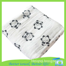 Solid Color Muslin Swaddle Blankets Custom Packaging