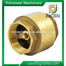 Preço de fábrica forjado cw617n macho rosqueado 1 2 polegadas fácil instalação latão válvula de retenção para bomba de 6 polegadas