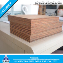 Madera contrachapada impermeable marina de la mejor calidad, base de madera dura