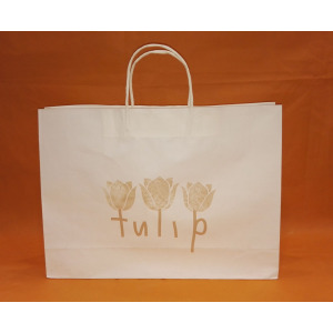 paper shopping bag with flower print