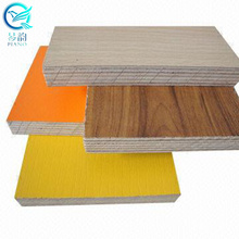 16mm 1220x2440MM hpl laminates coated plywood for furniture/decoration/high glossy HPL finished plywood block board MDF panel