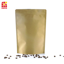 Kraft paper Flat bottom pouch stand up pouch