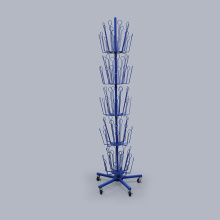 Pokok Toy Display Blue Customized Metal Untuk Merchandising