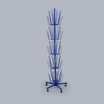 Anpassad Blue Metal Toy Display Tree för merchandising