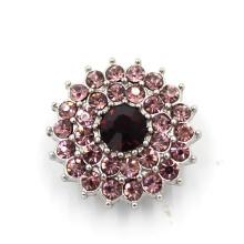 Bracelet Accessoires Snap Bijoux Crystal Alloy Fashion Button