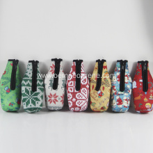 New Christmas printing party beer bottle coolers USA