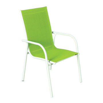 Outdoor grass green sling furniture-sling dining/leisure chair