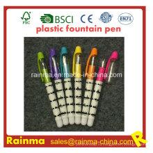 Пластиковые жидкость Авторучка с красивым цветным принтом