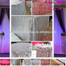 Novo tecido de mesa de casamento de design novo