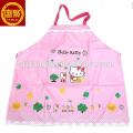 custom screen printed pink apron