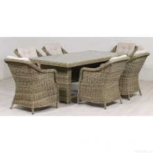 Патио ротанга зал столовой установить открытый Садовая Мебель плетеная