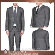 new style wedding dress suits for men with leather trimmings