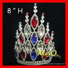Corona y tiara de cristal