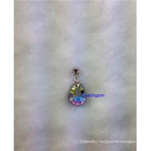 Jewellery-Mystic Opal White Quartz Sterling Silver Pendant (P5560)