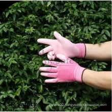 SRSAFETY 13g color gloves yard work glove/pink garden glove