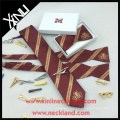 Silk Jacquard Necktie Self Tied Bow Tie with Custom Bow Tie Box Business Gift Set Executive