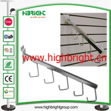 Metal Slatwall Clothes Hanging Display Hook con gancho Stopper