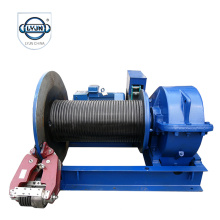 Hand control wire rope electric winch for piling
