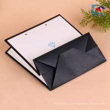 Bolsa de papel kraft con asas planas plegables para los pantalones