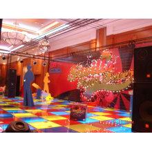 Exposição piso elevado pode ser reutilizado, iluminação LED show de comércio chão, pista de dança