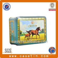 OEM Vários Formas Rodada Cilindro Quadrado Rectângulo Coração Metal Tin Tea Gift Box