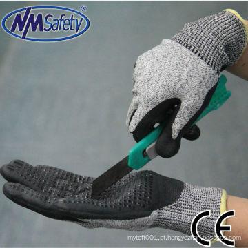 NMSAFETY New Products luvas de mão resistentes a corte de pontos de PVC