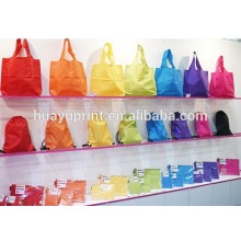 factory price shopping polyester bag /foldable shopping trolley bag/reusable grocery backpack shopping bags