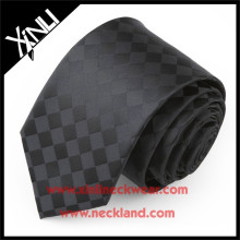 Private Label 100% Seide Jacquard gewebte Seide 7 Falten Krawatte