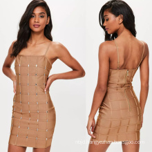 Bandage Square Neck Mini Dress