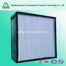 Filtro de aire del hepa de la eficacia alta de los medios de filtro de la fibra de 0.5micron