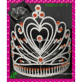 New design wholesale, Pink heart wholesale rhinestone crown
