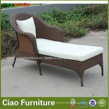 Loisirs rotin meubles en plein air Poolside chaise longue en osier (7801)