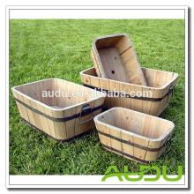 Audu Plant Pot / Potes de madeira baratos