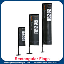 Iklan Custom Flying Rectangular Beach Flags