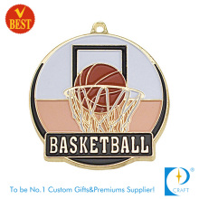 High Quality Top Selling Metal 3D Basketball Medal with Baking Finish