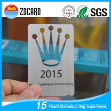 Metal cartão de visita PVC cartão