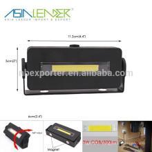 Produits Asia Leader BT-4815 100% Lighting-50% Lighting-Flash 3W COB 500 Lumineux Lumière de travail magnétique
