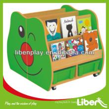 Cabinet de jouets pour enfants en bois Bibliothèque pour le stockage des enfants LE.SJ.053 Assurance de la qualité