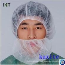 Máscara de barba não tecida descartável com elásticos duplos para indústria médica ou alimentar Kxt-Nbc01