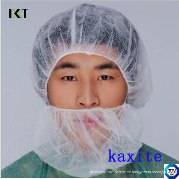 Máscara no tejida desechable de la barba con los elásticos dobles para la industria médica o de la comida Kxt-Nbc01