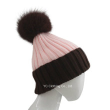 Present Good Quality Big Fox Ball Beanie Hat